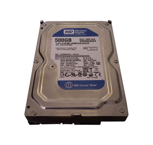Western Digital WD Blue Desktop 500GB 3.5 7200RPM HARD DISK DRIVE WD5000AAKX