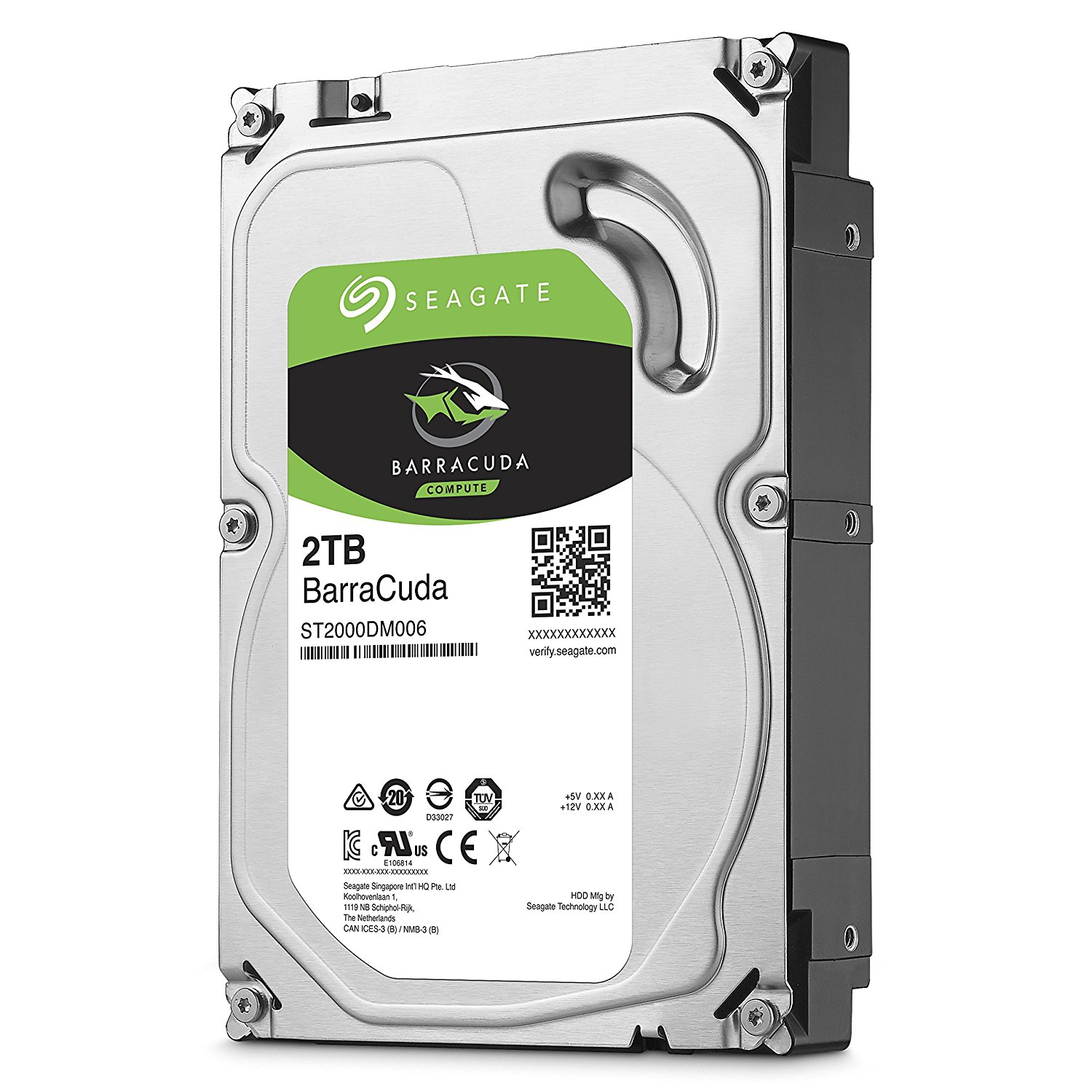 "Seagate 2TB BarraCuda 3.5"" 7200 RPM Internal Hard Drive 64MB SATA 6 GB/s"