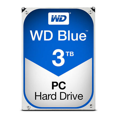 "Western Digital WD Blue Desktop 3TB, 3.5"" Hard Disk Drive 5400RPM 64MB WD30EZRZ"